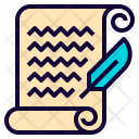 Letter Feather Pen Icon