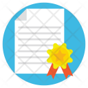 Contract Letter Approved Icon