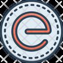E Letter Alphabet Brand Icon