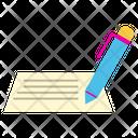 Letter Document Pen Icon