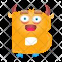Letter B Monster Icon