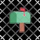 Postbox Message Flag Icon