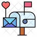 Letter Box Love Letter Mail Box Icon