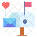 Letter Box Mail Box Heart Icon