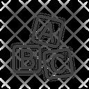 Letter Cube Cube Letter Icon