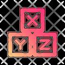 Letter cubes Icon