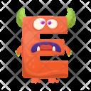 Letter E monster Icon