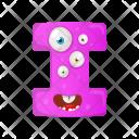 Letter I Monster Icon