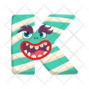 Horrifying K Halloween Icon