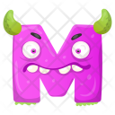 Unhappy M Monster Icon