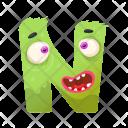 Letter N Monster Icon