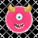 Letter O Monster Icon