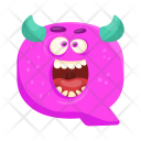 Shouting Q Monster Icon