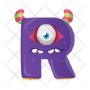 Letter R Monster Icon