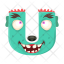 Letter U Monster Icon