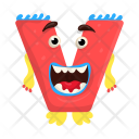 Laughing V Monster Icon