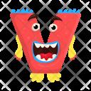 Letter V Monster Icon