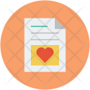 Letter with heart Icon