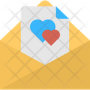 Letter With Hearts Icon