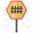 Level Crossing Traffic Icon