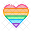 Lgbt Heart Unicorn Icon