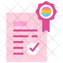 Lgbt Law Legal Document Approval Certificate Icon