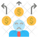 Liability Money Loss Icon