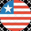 Liberia Flag Country Icon