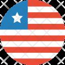 Liberia Flag World Icon