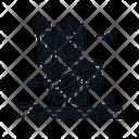 Line X Liberty Statue Icon