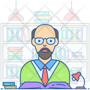 Librarian Library Incharge Bibliographer Icon