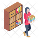 Library Books Librarian Icon