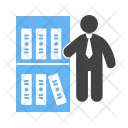 File Management Librarian Icon