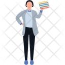 Librarian Cataloger Bookkeeper Icon