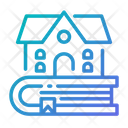 Library Book Building Icon