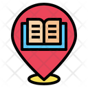 Pin Location Book Store Icon