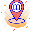 Library Location Book Library Icon