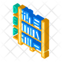 Library Shelves Isometric Icon