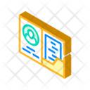 Library Card Isometric Icon