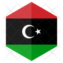 Libya Flag Hexagon Icon