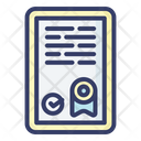 Licence Paper Whitepaper Icon