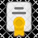 License Certificate Document Icon