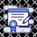 License Certificate Guarantee Icon