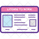 License To Work Icon