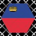 Liechtenstein National Country Icon
