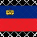 Flag Country Liechtenstein Icon