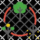 Cycle Life Circle Icon