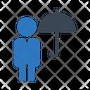 Man Avatar Umbrella Icon