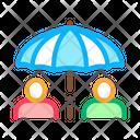Human Umbrella Business Icon