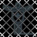 Human Person Shield Icon